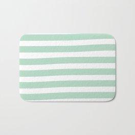 Brushy Stripes - Mint Bath Mat