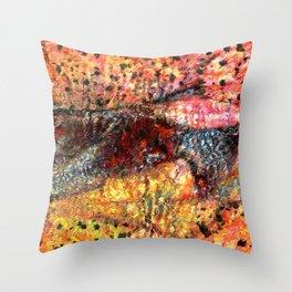 Sedimentary Rock Abstract Throw Pillow
