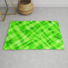 Pastel metal mesh with green intersecting diagonal lines and stripes. Rug