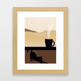 Coffee and Chill Framed Art Print