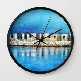 Mediterranean Blue Wall Clock