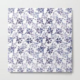 Stencilled flowers Metal Print