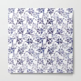 Stencilled flowers Metal Print