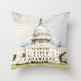 Capitol Washington DC, USA Throw Pillow