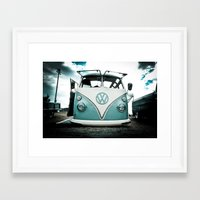vw bus Framed Art Prints featuring vw bus  by Aaron Joslin Photography