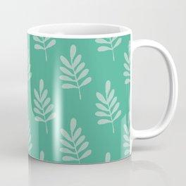 Leaf Love Medium Green Pattern Coffee Mug