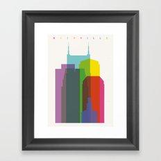 Shapes of Nashville Framed Art Print
