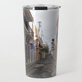 Street View of Old San Juan Puerto Rico Travel Mug