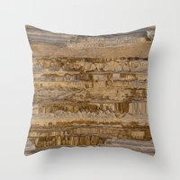 velvet underground Throw Pillows featuring Underground by dominiquelandau