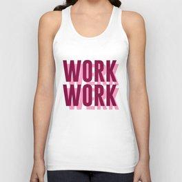 Work, Werk Unisex Tank Top