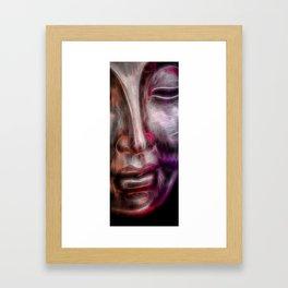 Face orangered Framed Art Print