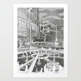 Frackpool 01 Art Print