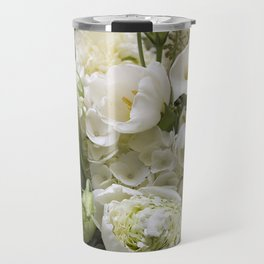 White Bouquet Travel Mug