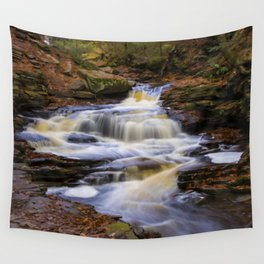 Autumn Cascade Wall Tapestry