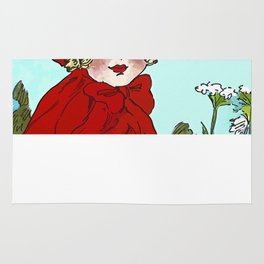 Little Red Riding Hood Painting Rug