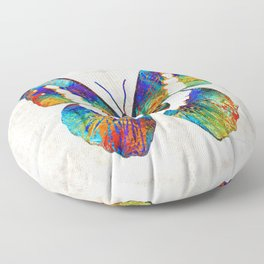 Colorful Butterfly Art by Sharon Cummings Floor Pillow