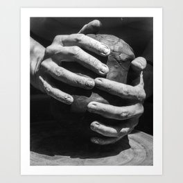 Safe in the Potter's Hands 018AFB Art Print