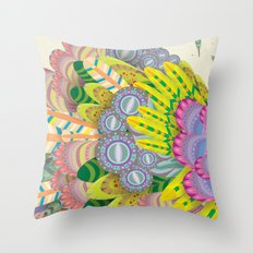 Cloud Peacock Throw Pillow