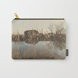 A cottage along a river Carry-All Pouch
