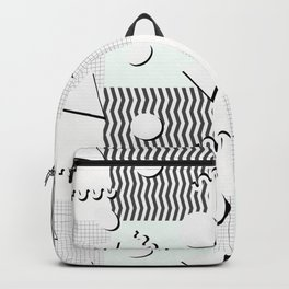 Pale 80s Pattern Backpack