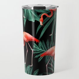Summer Flamingo Jungle Night Vibes #2 #tropical #decor #art #society6 Travel Mug