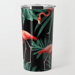 Summer Flamingo Jungle Night Vibes #2 #tropical #decor #art #society6 Travel Mug