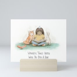 Wonderful Things Happen When you Open a Book Mini Art Print