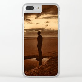 Another Place on Crosby Beach Clear iPhone Case