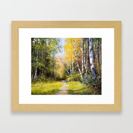 Birch Grove # 3 Framed Art Print