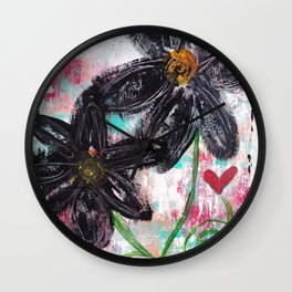 GARDEN OF WHIMSY 2 Wall Clock