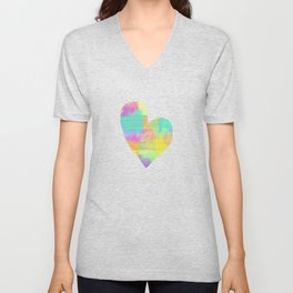Rainbowcolors Watercolor Unisex V-Neck