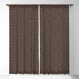 SWIRL / Coffee Blackout Curtain