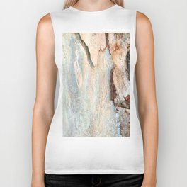 Eucalyptus tree bark and wood Biker Tank