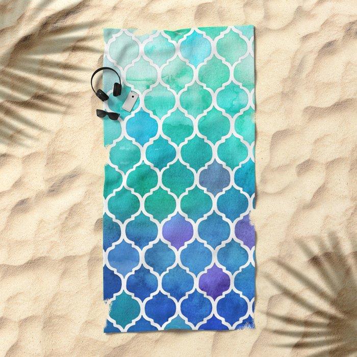 Emerald & Blue Marrakech Meander Beach Towel