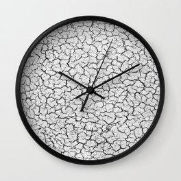 Cracked Abstract Print Texture Wall Clock