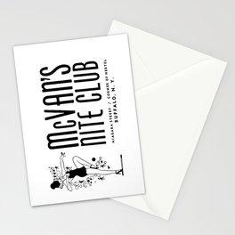 McVan's Nite Club Black Stationery Cards