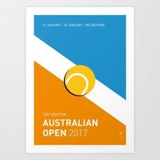 MY GRAND SLAM 01 AUSTRALIAN OPEN 2017 MINIMAL POSTER Art Print