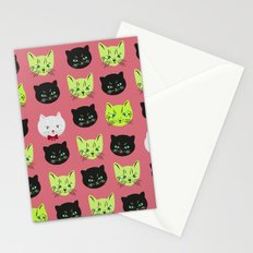 good kitty-bad kitty pattern PINK Stationery Cards