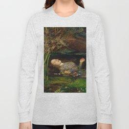 Ophelia, John Everett Millais Long Sleeve T-shirt