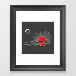 Ember Sun Framed Art Print