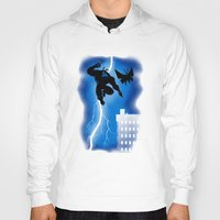 returns Hoodies featuring The Blue Mite Returns by harebrained