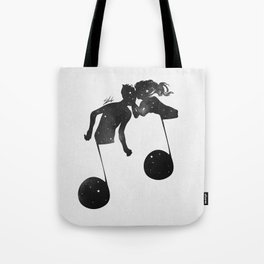When love meets music. Tote Bag
