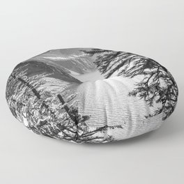 Forest Lake Retreat - Crater Lake Floor Pillow