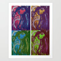 Swimming Cuatro. Art Print