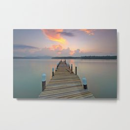 Dock Days Metal Print