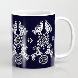 Blueprint deers, birds and Tree od life Coffee Mug