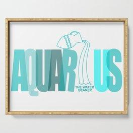 AQUARIUS - The Water Bearer Serving Tray