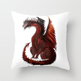Dragon Abstract Challenger Throw Pillow