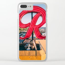 "Rainier ""R"" Clear iPhone Case"