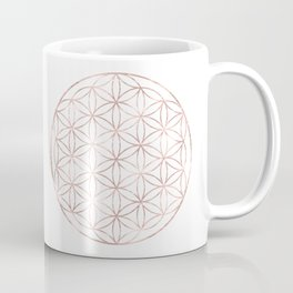 Mandala Rose Gold Flower of Life Coffee Mug